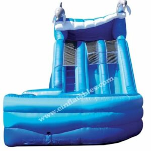 Interactive Inflatable Dolphin 16' Dual Lane Slide Party Rental Dayton & Cincinnati Ohio