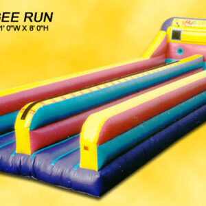Interactive Inflatable Bungee Run 2 Lane Rental Game