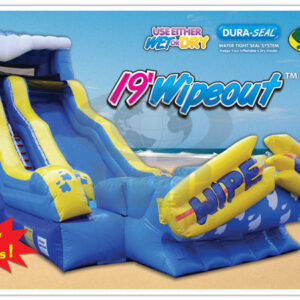 Wipeout Wet and Dry Inflatable Slide Party Rental Dayton & Cincinnati