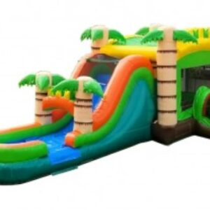 mega tropical wet dry bounce house combo