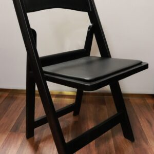Black resin chair rental
