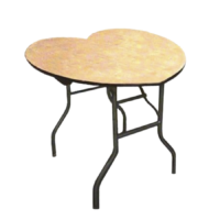 4ft-Heart-Shaped-Wood-Table