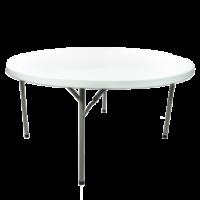 "60"" round plastic table rental"