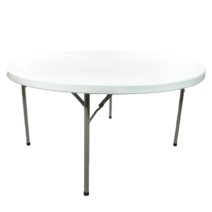"60"" round plastic table rental"