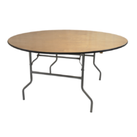 6ft-Wood-Round-Table Rental
