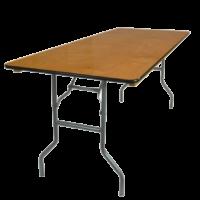 Wood 8' table rental