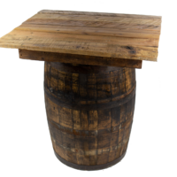 Whiskey Barrel Table Rental