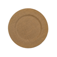 Burlap Charger Plate