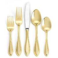 Gold flatware rental