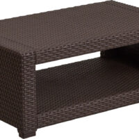 Rattan coffee table rental