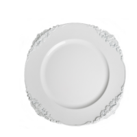 Vintage White Charger Plate