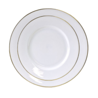 China White with Gold Rim 10.75 Inch