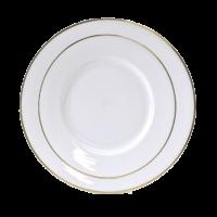 China White with Gold Rim 10.75 Inch
