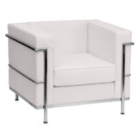 White leather chair rental