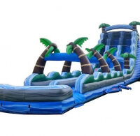 22 foot tropical dual lane water slide rental