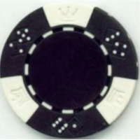 black poker chip
