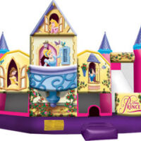 Inflatable Bounce House Rental Disney Princess Combo