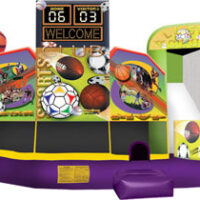 sports-5in1 combo bounce house rental