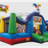 Interactive Inflatable Three Ring Circus Bounce House Rental Dayton & Cincinnati