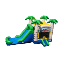 tropical combo wet or dry bounce house rental Cincinnati Dayton Oh