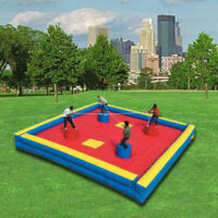 Interactive Inflatable Jousting Arena 4 Person Party Rental Dayton & Cincinnati