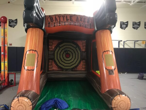inflatable axe throw rental