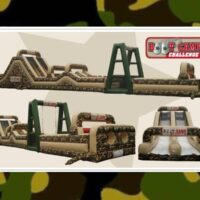 Inflatable Boot Camp Challenge Obstacle Course Party Rental Dayton & Cincinnati