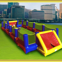 Interactive Inflatable Human Foosball Party Rental Dayton & Cincinnati