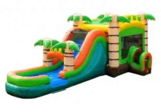mega tropical wet dry bounce house combo