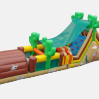 Interactive Western Inflatable Obstacle Course Party Rental Dayton & Cincinnati Ohio