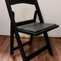 Black resin chair rental